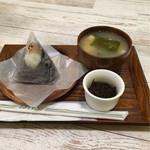 おむすび 結び菜 - おむすび+味噌汁セット