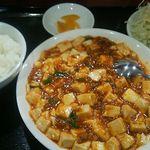 福満園 - 麻婆豆腐ランチ750円(税込)こちらにあと、ラーメンで全てです。