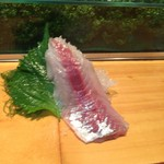 鮨芳 - アジの刺身です。