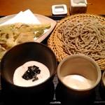 57868038 - せいろ(650円)+とろろ(440円)+季節野菜天ぷら(770円)