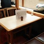 みはし 上野本店 - 2階のテーブル席