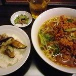 香港ロジ 原宿店 - 台湾タンタン麺とご飯のランチ 850円
