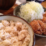 薩摩 茶美豚 とんかつ 花 - 豚汁&玄米とろろ定食(918円)を頂きました。