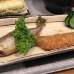 食事処さとう - ししゃも天ぷらセット