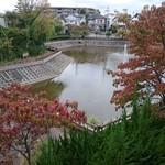 パシモン - テラス席から見える池