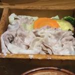 仙台旬風 冨和利 - 【ランチ】豚バラ肉と彩り野菜のせいろ蒸しランチ 900円(税込)