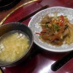 麻布 韓日館 - スープ、チャプチェ