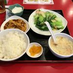 永利 - エビと青梗菜炒め