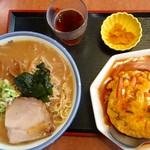 ラーメン玄咲 - ラーメンセット天津飯です。