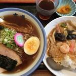 ラーメン玄咲 - ラーメンセット醤油ラーメン、中華丼1000円です。