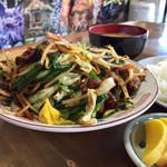 味の店 さつき - 《ジンギスカン・野菜(定食)》1,200円 2016/10/23