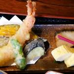 57896676 - 天ぷらと焼き魚、出汁巻玉子