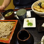 志ほ川本店 - 天丼セット 冷蕎麦で