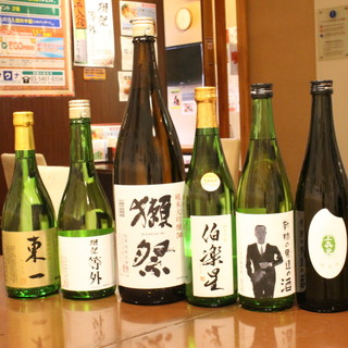 充実の日本酒!注目の獺祭もご用意
