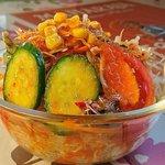 アジアンダイニング NISA - ASIAN DINING NISA @東葛西 ダブルカレーライスに付くたっぷりんこの量のサラダ