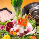 やさい屋 朝日堂 - 料理写真:しゃぶしゃぶセット