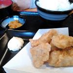 とりゆき - 鶏塩唐揚げ定食(650円)