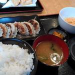 とりゆき - 餃子定食(650円)