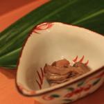 鮨 江なみ - お通しの牡蠣のオイル煮