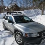 蕎麦 ふじおか - 雪の中を快調に走る愛車