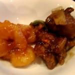 中国日隆園 - エビチリと酢豚
