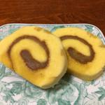 喫茶コトブキ - 栗餡ロールケーキ