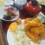 和食処 山女魚 - 牡蠣フライ定食