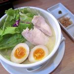 鶏白湯ラーメン 夏樹 - 鶏白湯味玉(2016/10/24撮影)