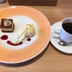 スイーツ&カフェ ドラジェ - ケーキセット(セットなら珈琲が300円となる)700円