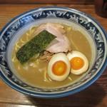 らーめん 木尾田 - らーめん(細麺)味玉