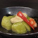 哲 - 料理写真:翡翠茄子