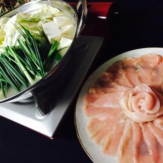 濃厚鶏スープで食べる鶏しゃぶ鍋