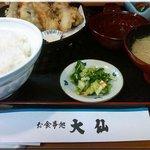 Daisenoshokujidokoro - 天ぷら定食(1,100円)