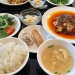 アオヤマ - 四川麻婆豆腐ランチセット、980円です。