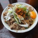 南天 - 肉そばw(ダブル)520円