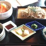57931504 - 蕎麦とサーモン丼セット