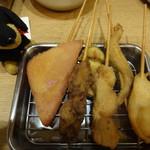 串だおれ - 串揚げ盛り5種
