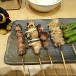 串だおれ - 串焼き盛り