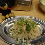 串だおれ - 新生姜とモヤシのナムル