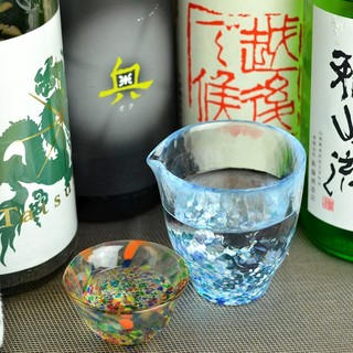 定期的に変わる多数の日本酒