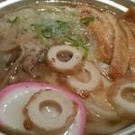57935254 - 「松山名物鍋焼きうどん」。