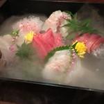 旬魚と個室 和食りん  - 鮮魚のお造り宝石箱 ドライアイスで演出