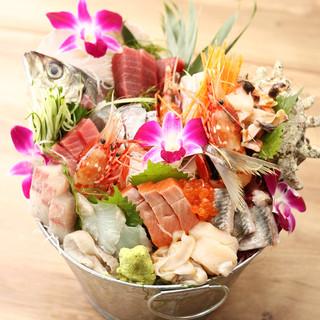 ■■インスタ映え!■■朝獲れ鮮魚の大漁バケツ刺盛!!!!!