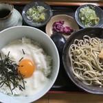 そば処 大正庵 - 山かけ丼+蕎麦