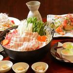 魚菜おもてなし 北河 - 3500円 栗豚塩鍋コース(11月~1月