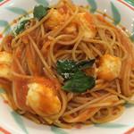 トラットリア ペペ - モッツァレラチーズとトマトソースのスパゲッティ☆ 麺大可