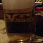 立ち飲み 三九堂 - ドリンク写真:アサヒの生ビールジョッキ480円