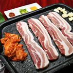 梁家 - 料理写真:豚三段バラセット