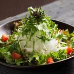 立ち飲みと個室 だん12ban-cho - 水菜と大根の和風サラダ