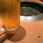 日暮里食肉問屋 おもに亭 - 生ビール  アサヒ